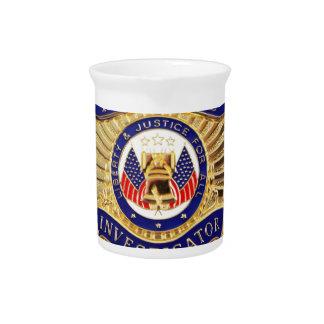 Private Investigator Badge Pitcher