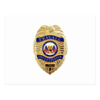 Private Investigator Badge Postcard