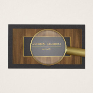Private investigator business card