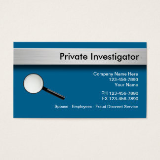 Private Investigator Business Cards
