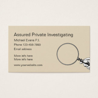 Private Investigator Design Business Card