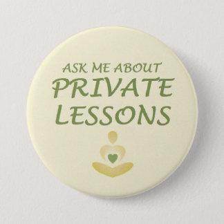 private lessons 7.5 cm round badge