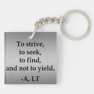 Private Order with Gradient Grey Background Key Ring