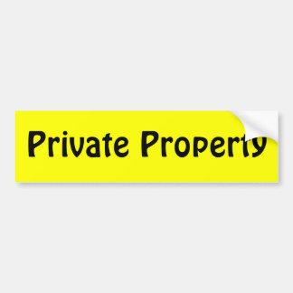 Private Property Bumper Stickers