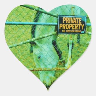 Private Property, Horse Heart Sticker
