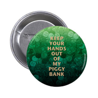 Private Property Piggy Bank Pinback Buttons