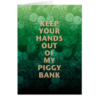 Private Property Piggy Bank Card