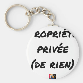 PRIVATE PROPERTY - Word games - François City Key Ring