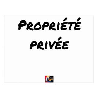 Private property - Word games - François City Postcard