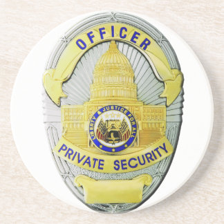 Private Security Drink Coaster