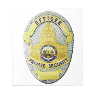 Private Security Notepad