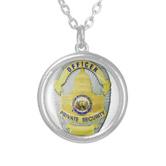 Private Security Silver Plated Necklace