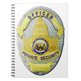 Private Security Spiral Notebook