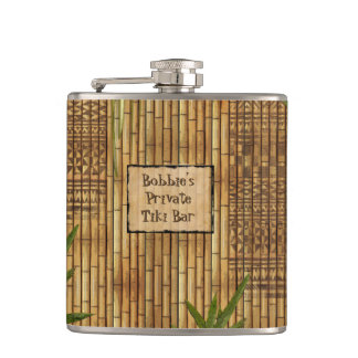 Private Tiki Bar with Your Name on it Hip Flask
