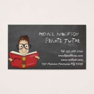 Private tutor and teaching business card