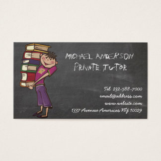 Private tutor blackboard business card