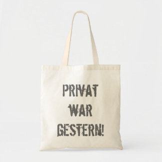 Private was yesterday! tote bag
