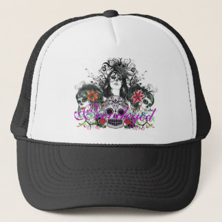 Privileged Dia De Los Muertos Trucker Hat