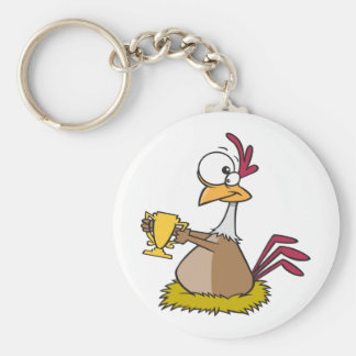 Prize Chicken Keychain