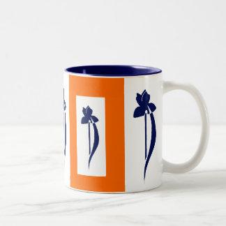 PRLimages OrangeNavy Iris Mug