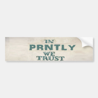 Prntly Bumper Sticker
