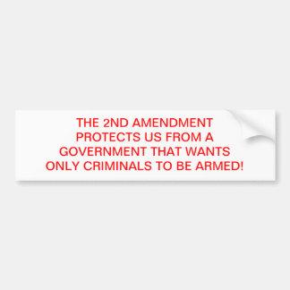 PRO 2ND AMENDMENT BUMPER STICKER