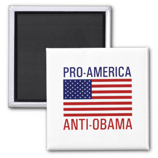 PRO-AMERICAN ANTI-OBAMA SQUARE MAGNET