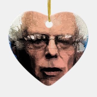 Pro-Bernie Sanders 2016 Ceramic Heart Decoration