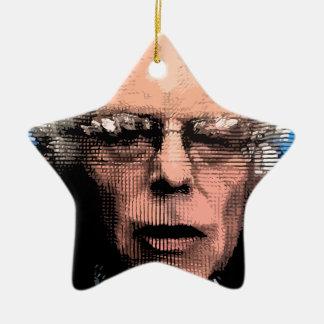 Pro-Bernie Sanders 2016 Ceramic Star Decoration