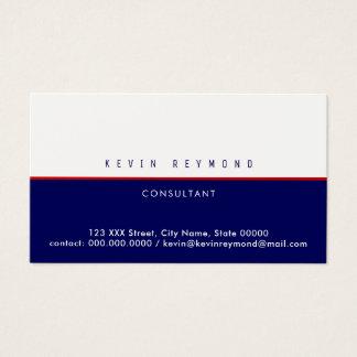 pro business card half blue / half white