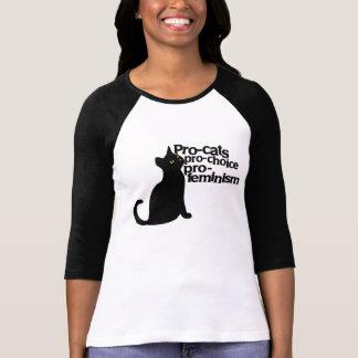 pro-cats pro-choice pro-feminism t shirts