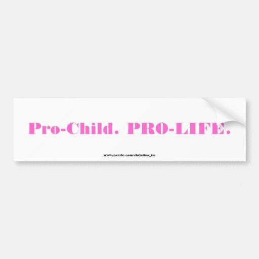 Pro-Child Bumper Sticker