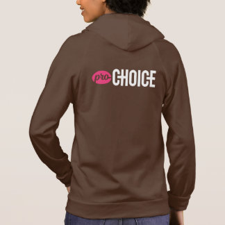Pro-Choice Fitted American Apparel Brown Zip-Up Hoodie