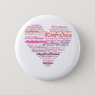 Pro Choice Heart 6 Cm Round Badge