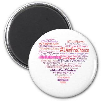 Pro Choice Heart 6 Cm Round Magnet
