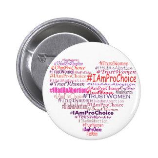 Pro Choice Heart Buttons