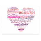 Pro Choice Heart Postcard