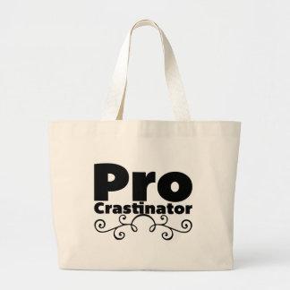Pro Crastinator Large Tote Bag