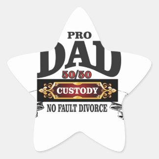 pro dad in custody courts star sticker