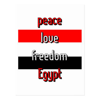 Pro-democracy Egypt Post Card