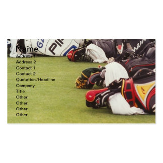 PRO GOLF BAGS PACK OF STANDARD BUSINESS CARDS