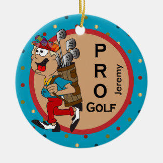 Pro Golf   DIY Text Ceramic Ornament