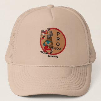 Pro Golf Player Trucker Hat