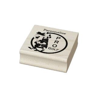 Pro Golfer Rubber Stamp