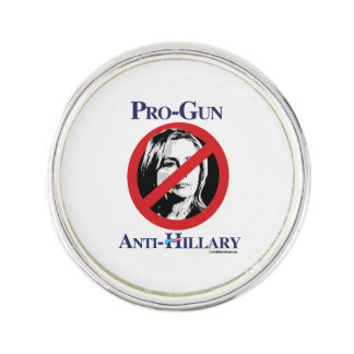 Pro-Gun Anti-Hillary Lapel Pin