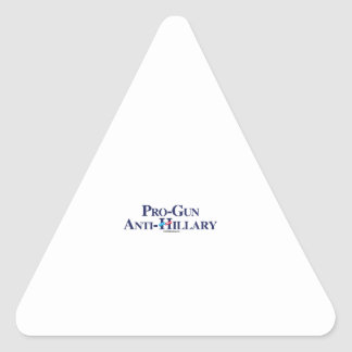 Pro-Gun Anti-Hillary Triangle Sticker