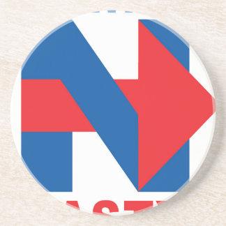 """Pro Hillary Clinton """"I'm with Nasty"""" Coaster"""