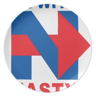 "Pro Hillary Clinton ""I'm with Nasty"" Plate"