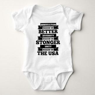 Pro immigration America Baby Bodysuit