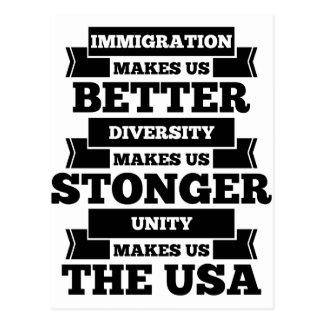 Pro immigration postcard